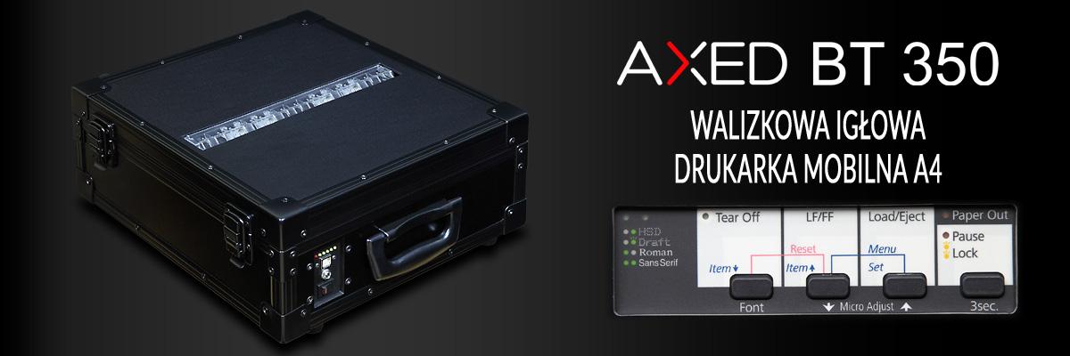 AXED BT350 walizkowa igłowa drukarka mobilna A4 - baner