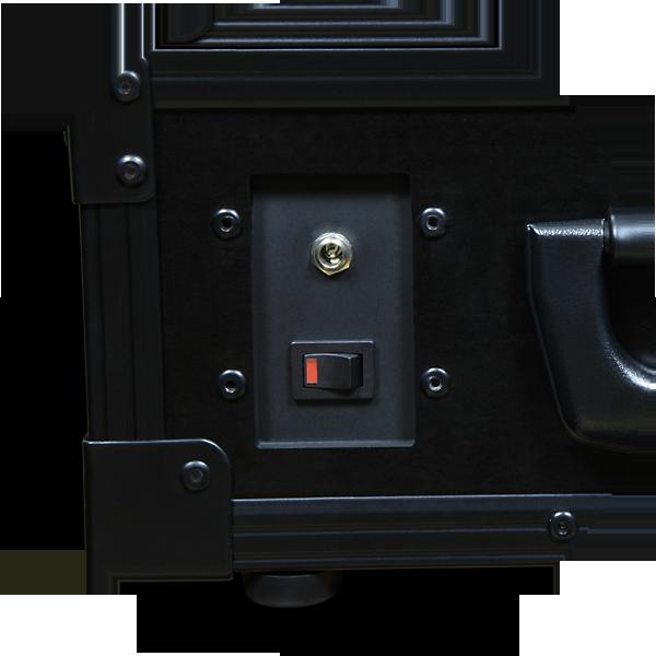 AXED BT350 walizkowa igłowa drukarka mobilna A4 - panel z gniazdem 12V