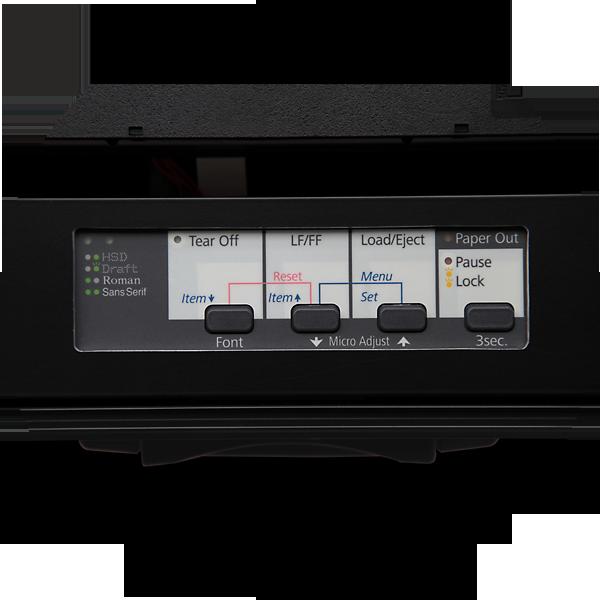 AXED BT350 walizkowa igłowa drukarka mobilna A4 - panel sterowania EPSON