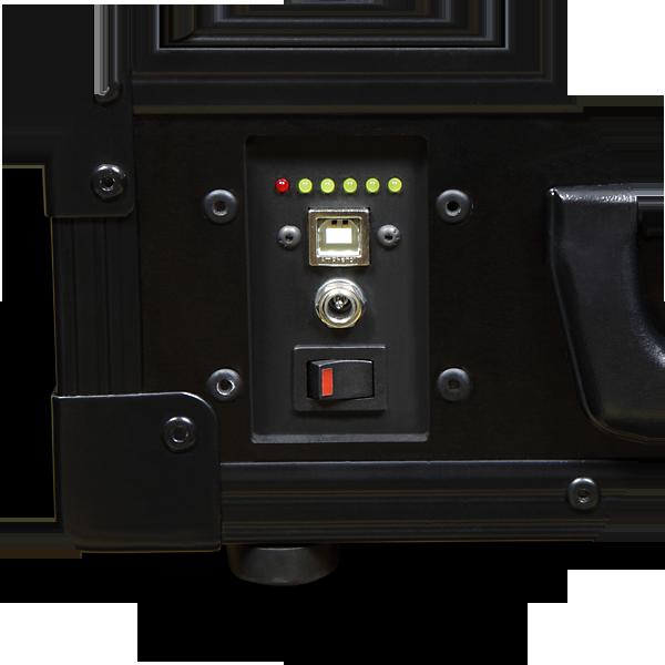 AXED BT350 walizkowa igłowa drukarka mobilna A4 - panel ze złączem USB