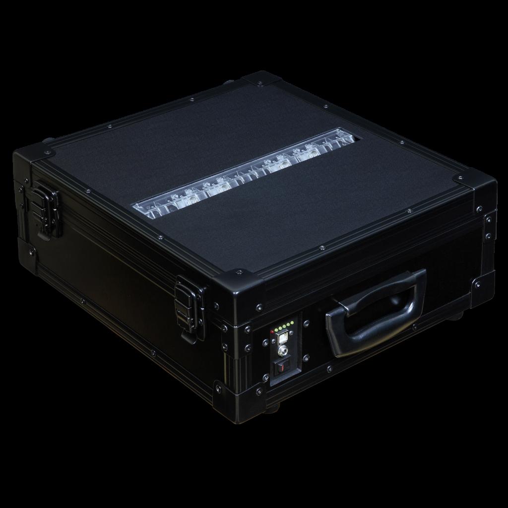 AXED BT350 walizkowa igłowa drukarka mobilna - lewy przód