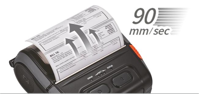 Bixolon SPP-R410 szybkość drukowania 90 mm na sekundę
