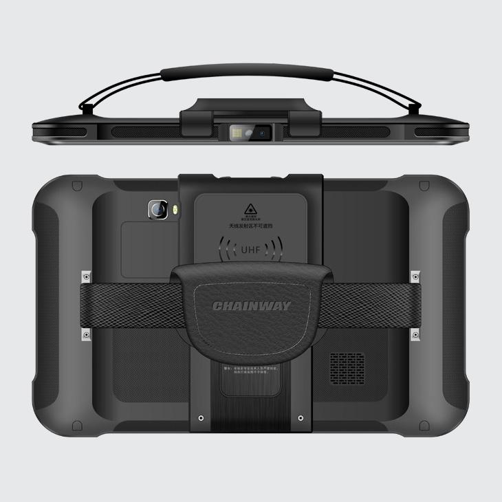 Chainway P80 - Tablet przemysłowy - czytnik UHF RFID 1 - widok z góry i tyłu