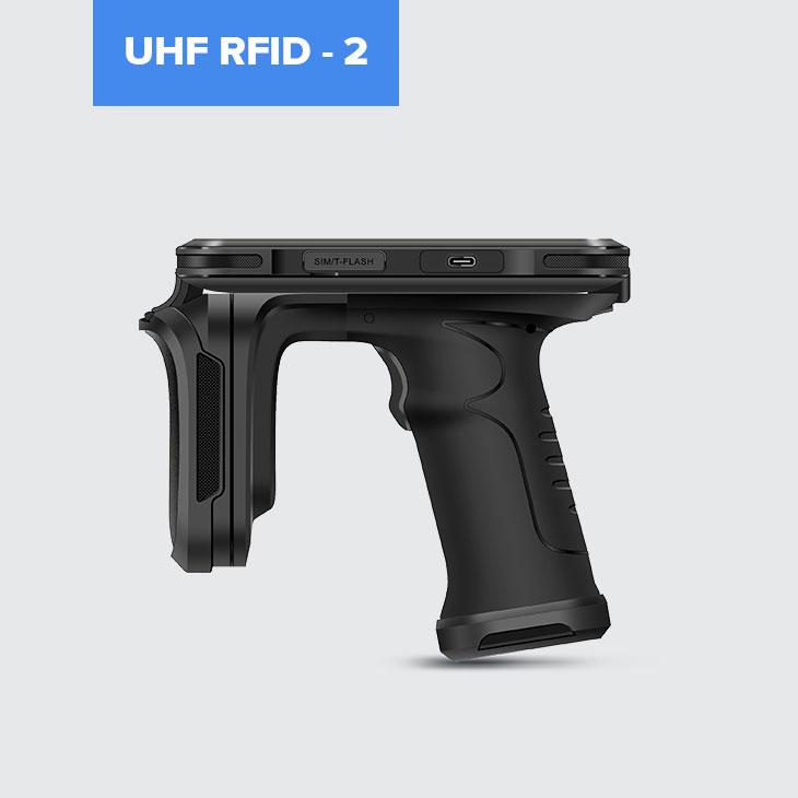 Chainway P80 - Tablet przemysłowy - czytnik UHF RFID 2 - widok z boku