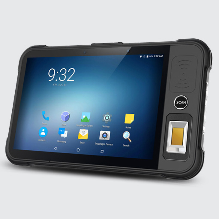 Chainway P80 - Tablet przemysłowy - pojemnościowy czytnik linii papilarnych TCS1