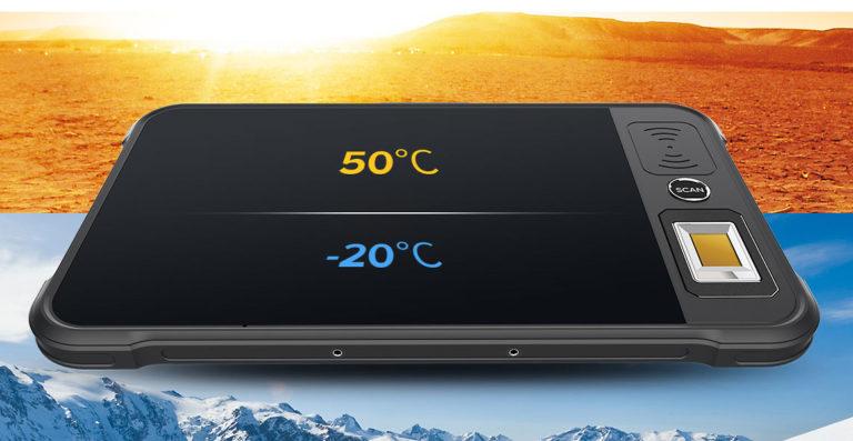 Chainway P80 - Tablet przemysłowy - praca w niskich i wysokich temperaturach