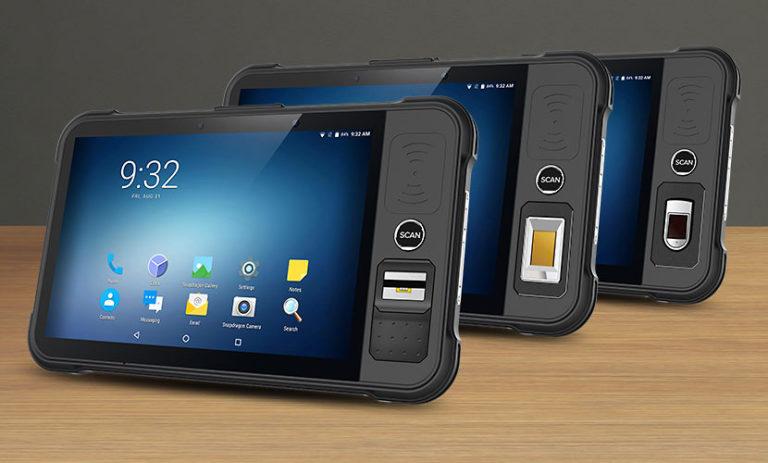 Chainway P80 - Tablet przemysłowy - różne czytniki linii papilarnych