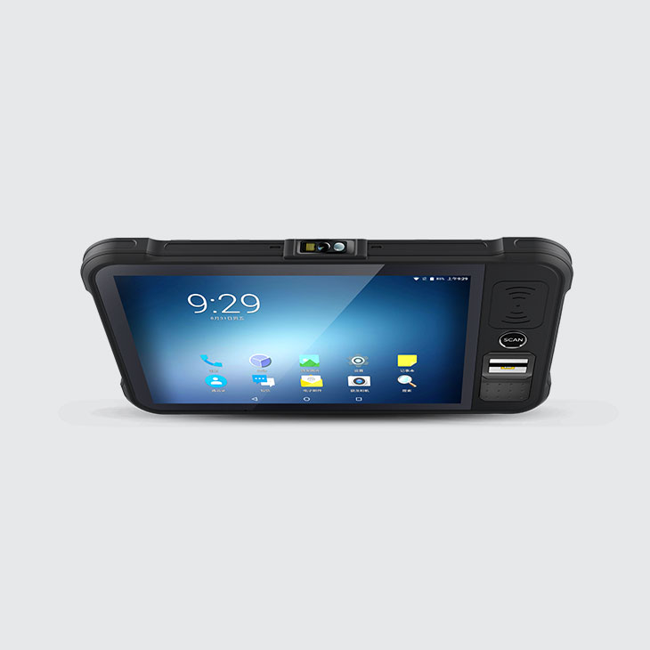 Chainway P80 - Tablet przemysłowy - widok z góry - czytnik kodów kreskowych