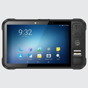 Chainway P80 - Tablet przemysłowy - widok z przodu - czytnik optyczny