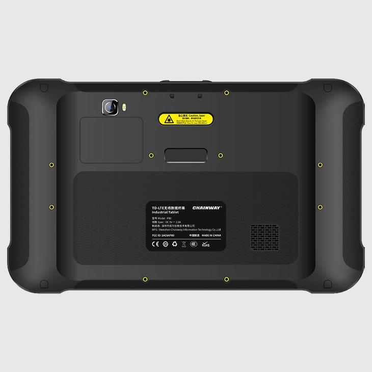 Chainway P80 - Tablet przemysłowy - widok z tyłu