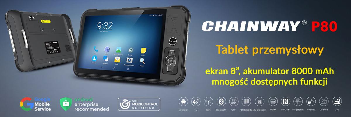 Chainway P80 - Tablet przemysłowy - baner