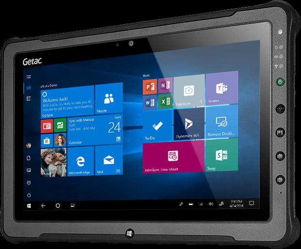 Getac F110 - tablet przemysłowy z Win 10