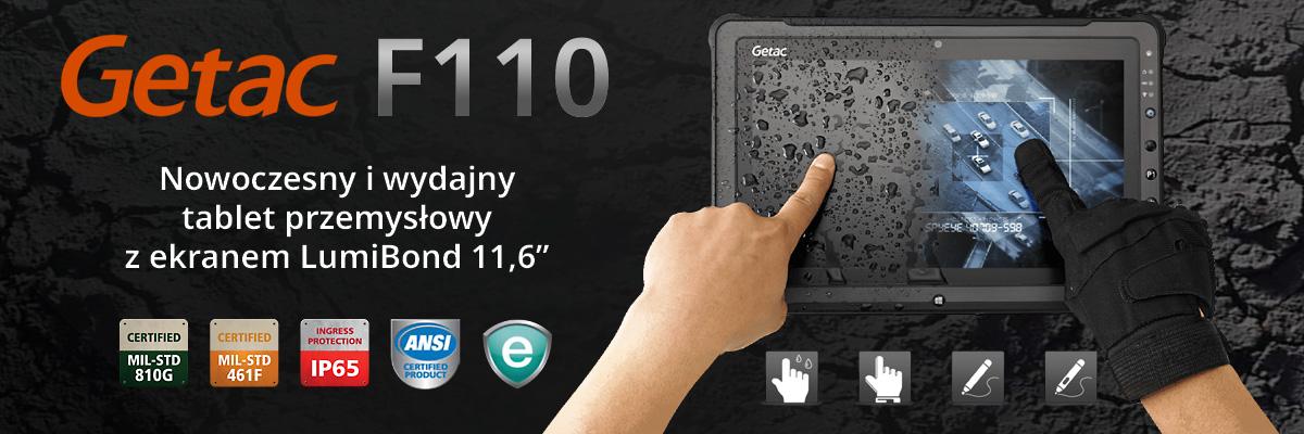 Getac F110 - Tablet przemysłowy
