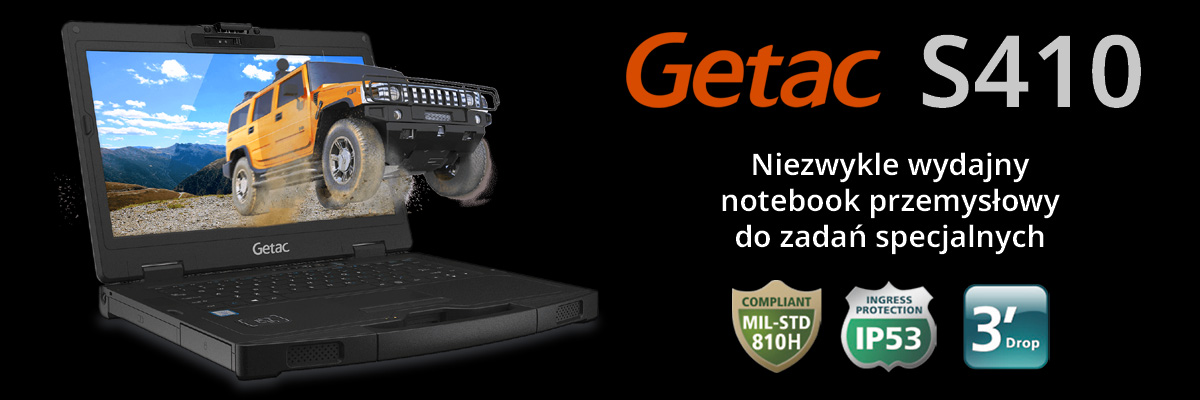 Getac S410 - Notebook przemysłowy