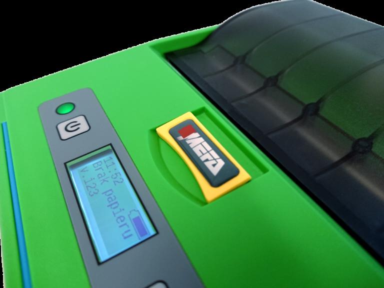 Mefa 18M - Mobilna drukarka termiczna - wyświetlacz