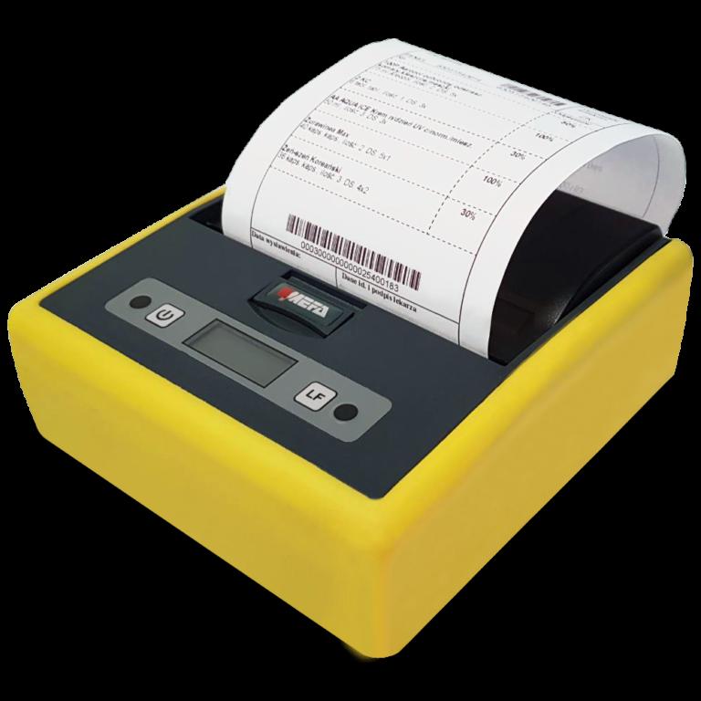 Mefa 18M - Mobilna drukarka termiczna Bluetooth - wydruk