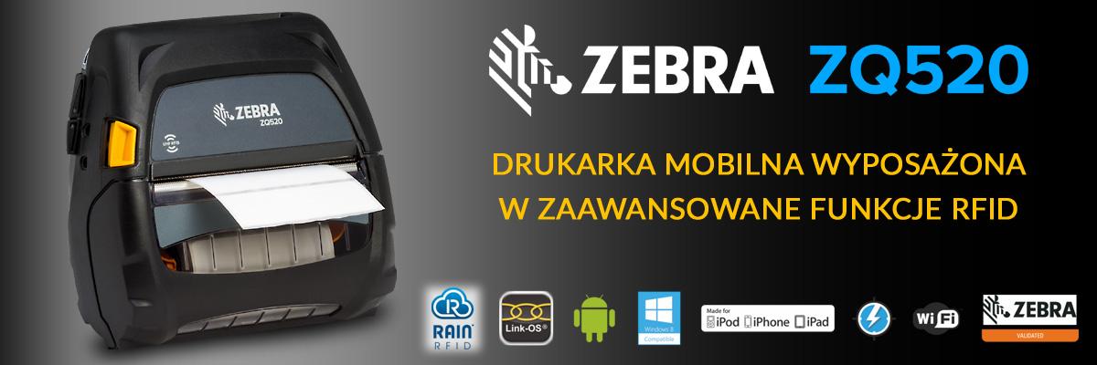 Zebra ZQ520 Drukarka mobilna UHF RFID baner